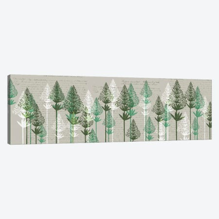 Leafy Pines III Canvas Print #FNK347} by Fab Funky Canvas Art