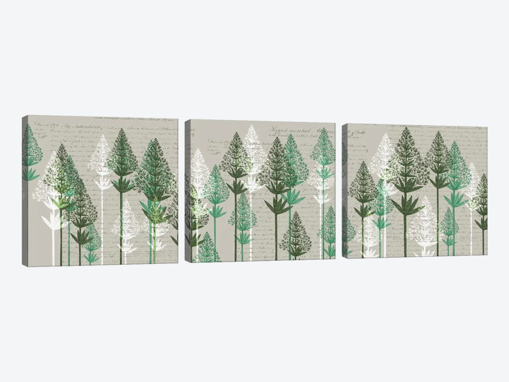 Leafy Pines III by Fab Funky 3-piece Canvas Art Print