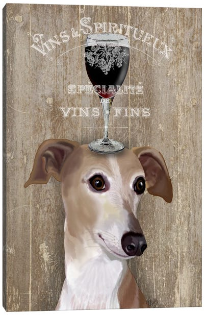Dog Au Vine Greyhound Canvas Art Print
