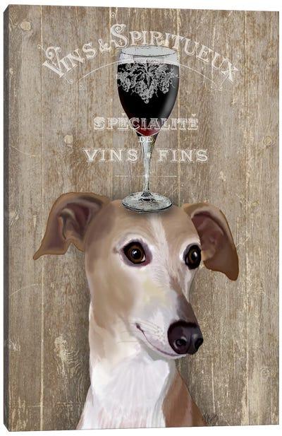 Dog Au Vine Greyhound Canvas Art Print
