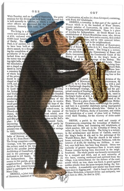 Monkey Playing A Saxophone I Canvas Print #FNK357