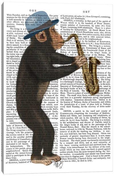 Monkey Playing A Saxophone I Canvas Print #FNK357