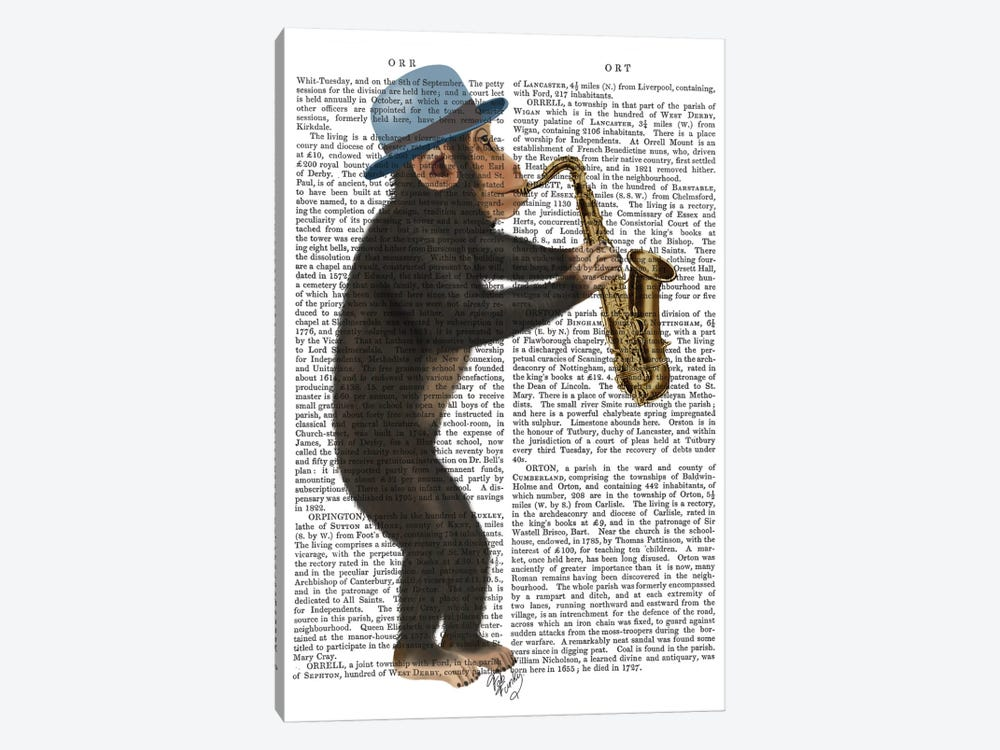 Monkey Playing A Saxophone I 1-piece Canvas Art