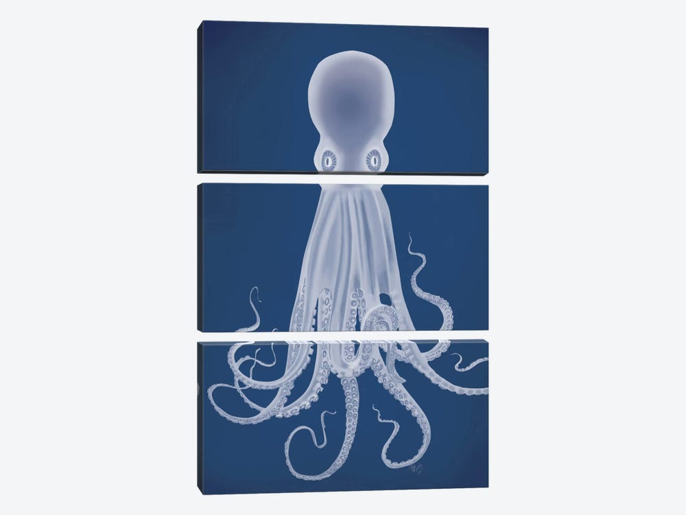 Octopus 8 I by Fab Funky 3-piece Canvas Art Print