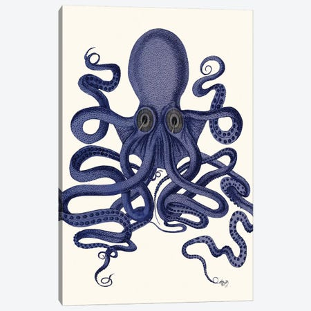 Octopus 9 II Canvas Print #FNK376} by Fab Funky Canvas Art Print