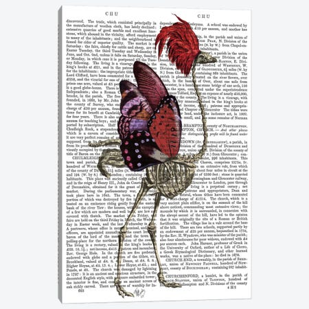 Ostrich Skeleton I Canvas Print #FNK379} by Fab Funky Canvas Wall Art