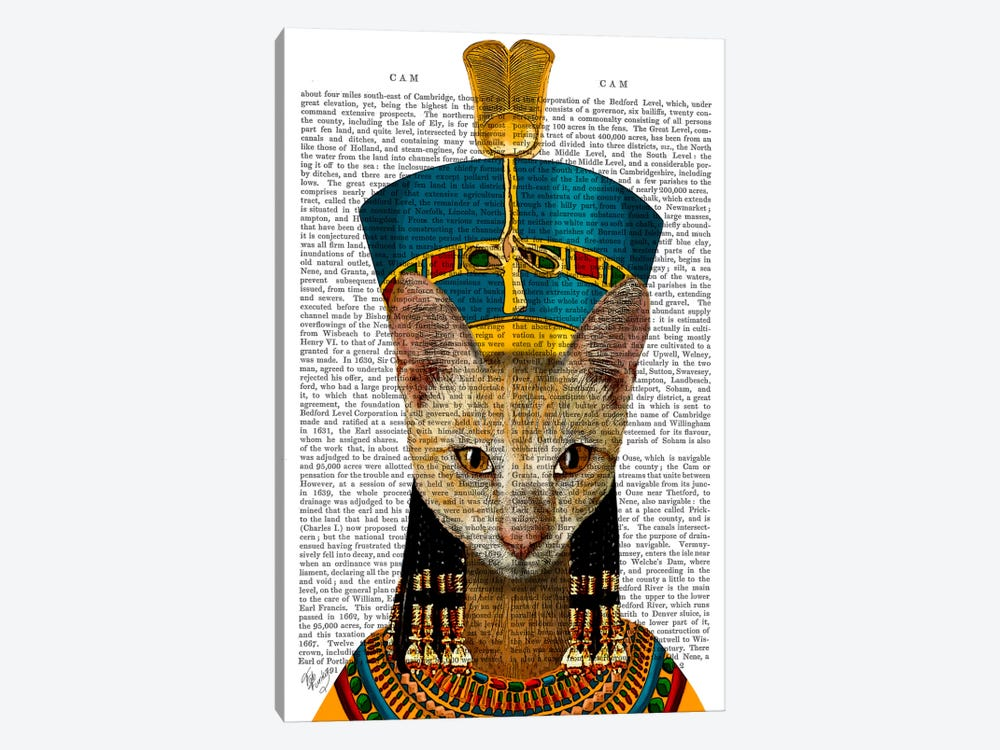 Egyptian Queen Cat by Fab Funky 1-piece Canvas Artwork
