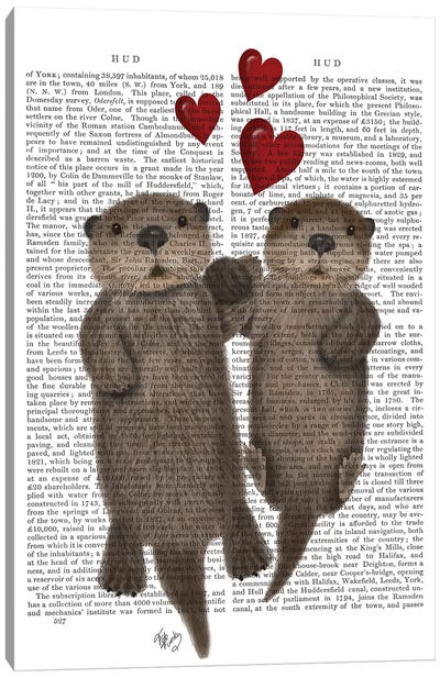 Otters Holding Hands I Canvas Print #FNK380