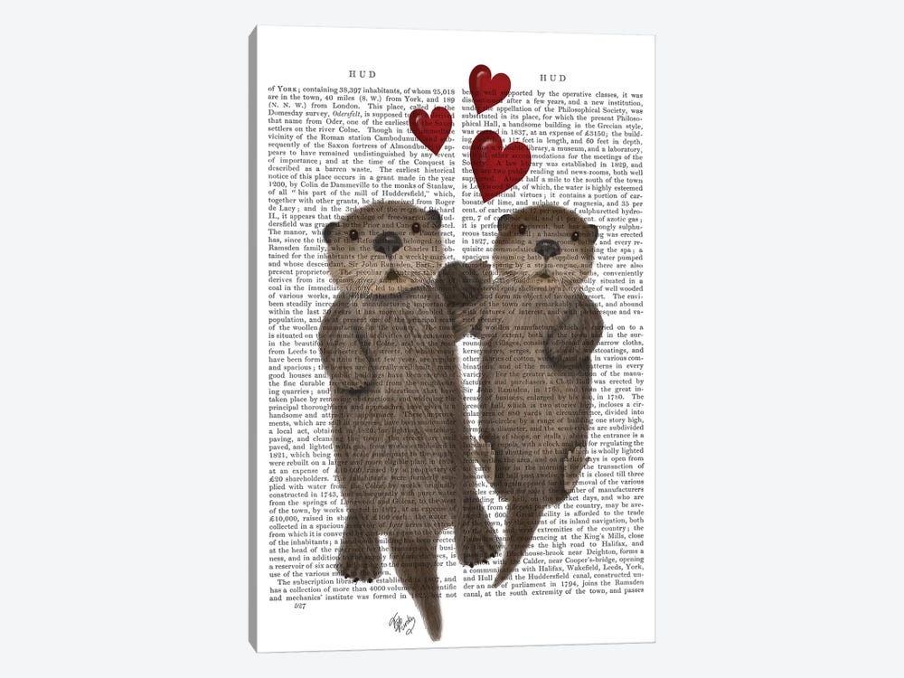 Otters Holding Hands I by Fab Funky 1-piece Canvas Art