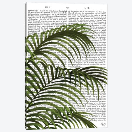 Palm Leaf I Canvas Print #FNK385} by Fab Funky Canvas Artwork