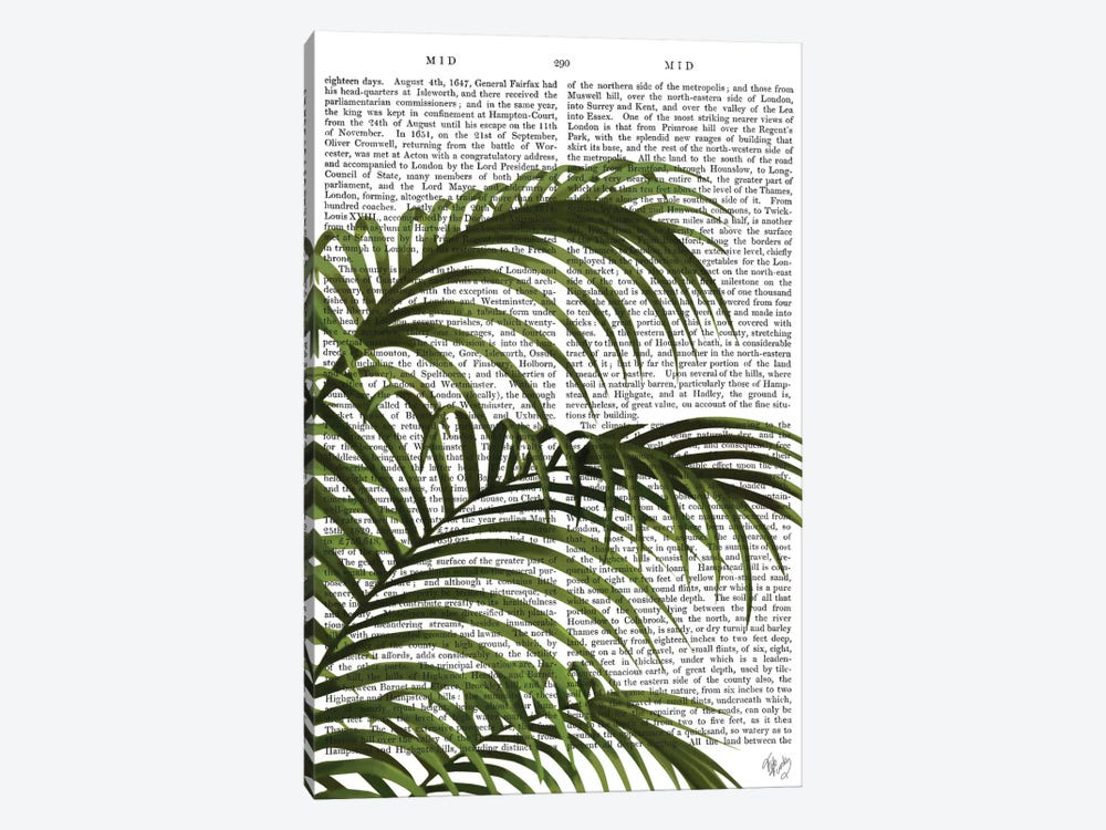 Palm Leaf I by Fab Funky 1-piece Canvas Print