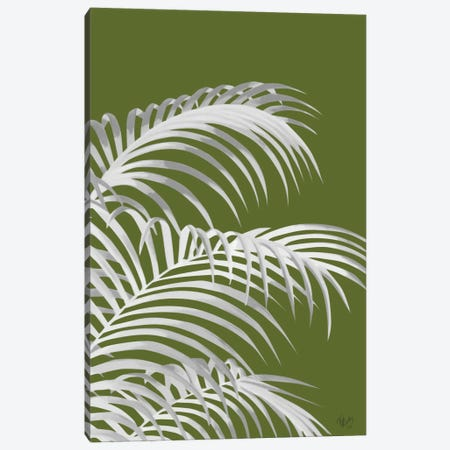 Palm Leaf IV Canvas Print #FNK388} by Fab Funky Art Print