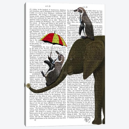 Elephant And Penguin Canvas Print #FNK38} by Fab Funky Canvas Art