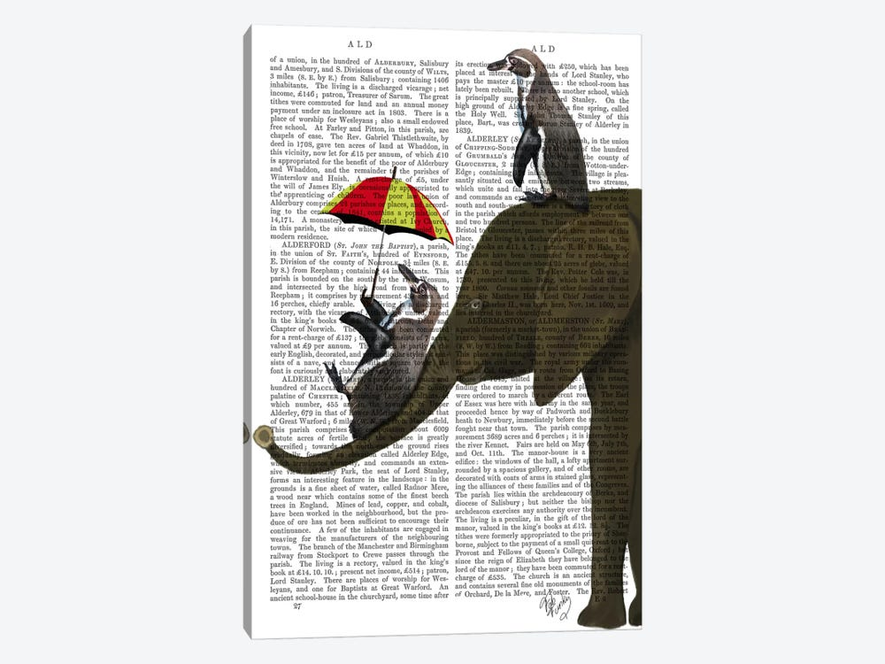 Elephant And Penguin by Fab Funky 1-piece Art Print