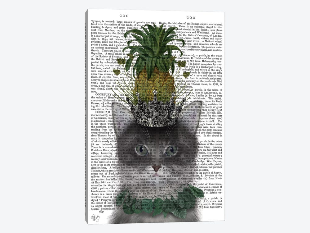 Pineapple Puss I by Fab Funky 1-piece Canvas Print