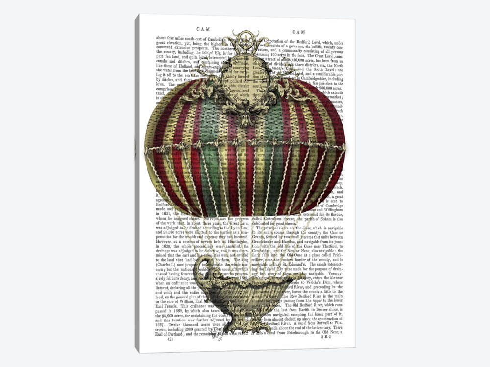 Baroque Fantasy Balloon III by Fab Funky 1-piece Canvas Wall Art