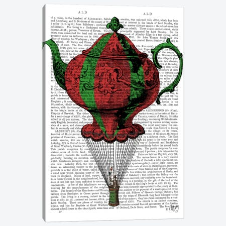 Flying Teapot II Canvas Print #FNK40} by Fab Funky Canvas Art Print