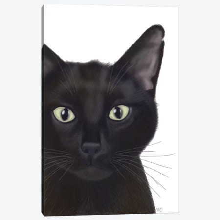 Portrait Of Gus II Canvas Print #FNK410} by Fab Funky Canvas Print