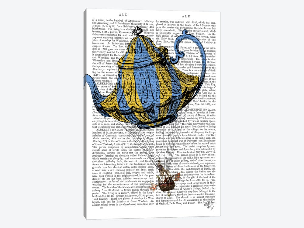 Flying Teapot III by Fab Funky 1-piece Art Print