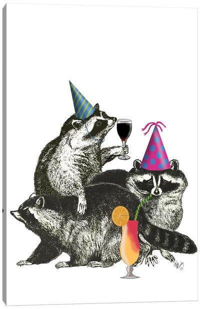 Raccoon Party II Canvas Art Print