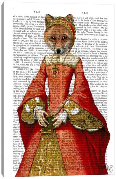 Fox Queen Canvas Print #FNK42