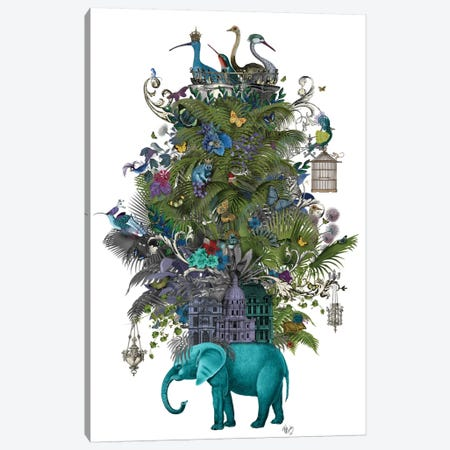 The Birdcage II Canvas Print #FNK433} by Fab Funky Canvas Print