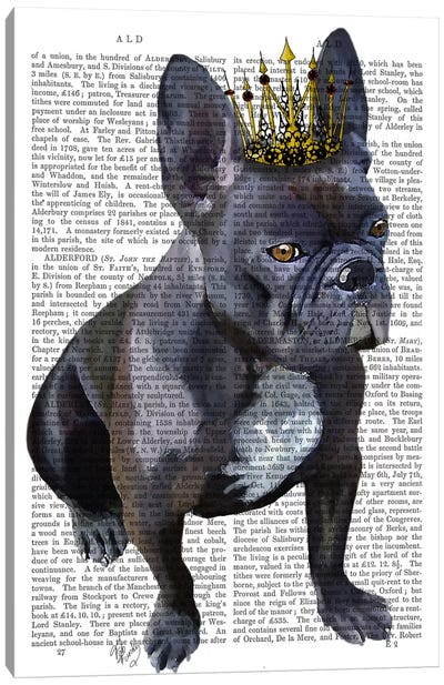 French Bulldog King Canvas Art Print