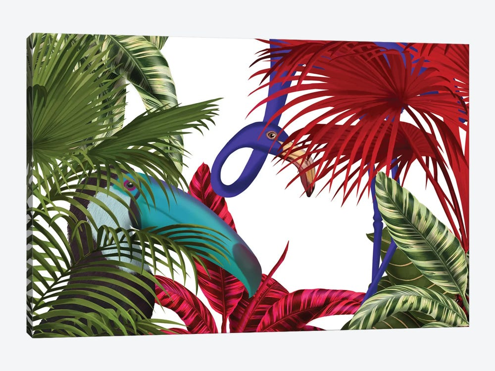 Toucan And Flamingo II by Fab Funky 1-piece Art Print