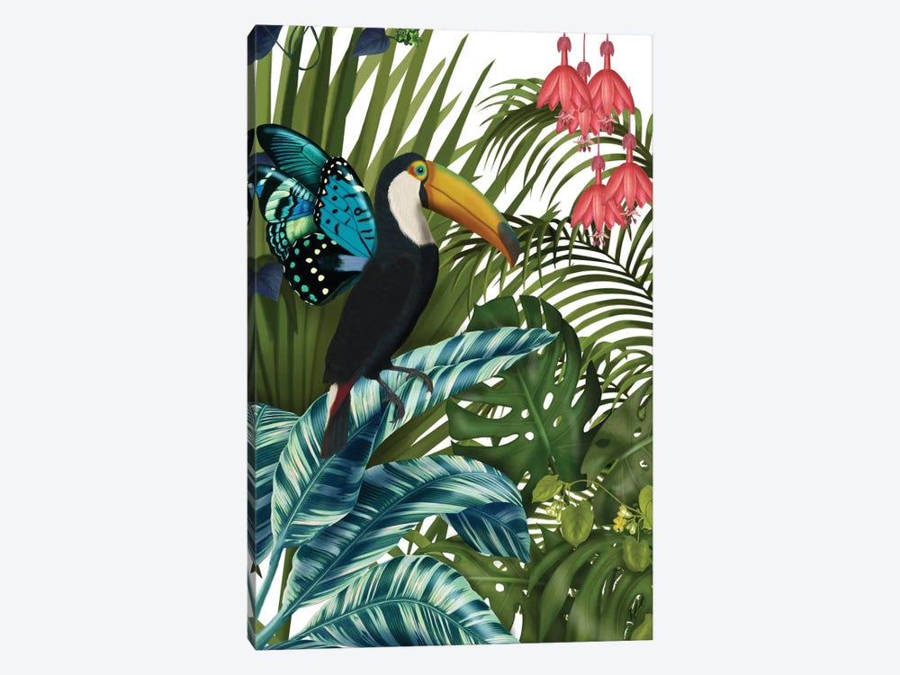 Toucan In Tropical Forest II by Fab Funky 1-piece Canvas Art