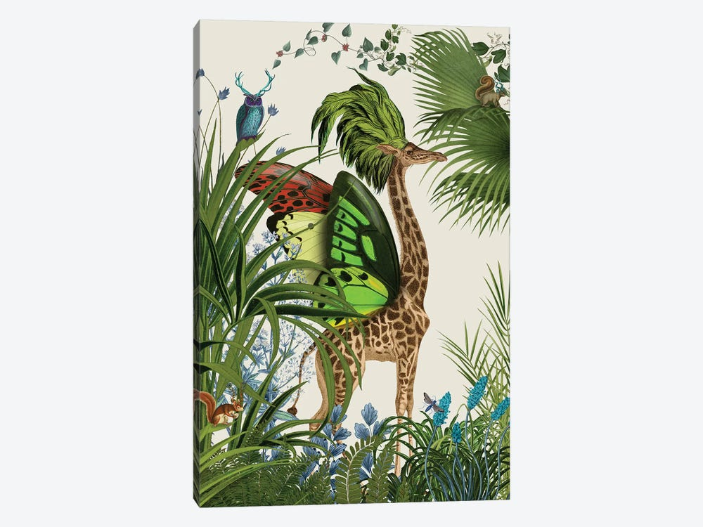Tropical Giraffe I by Fab Funky 1-piece Canvas Artwork