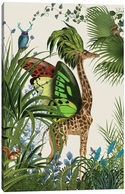 Tropical Giraffe I Canvas Art Print