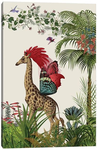 Tropical Giraffe IV Canvas Art Print