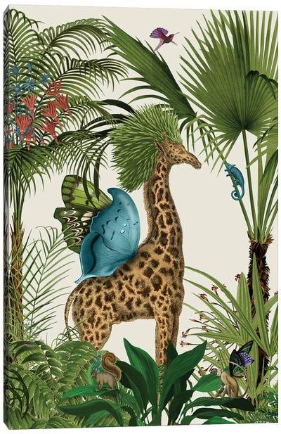 Tropical Giraffe V Canvas Art Print