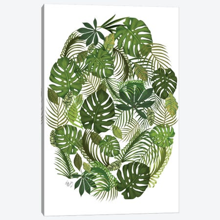 Tropical Oval I Canvas Print #FNK456} by Fab Funky Canvas Art