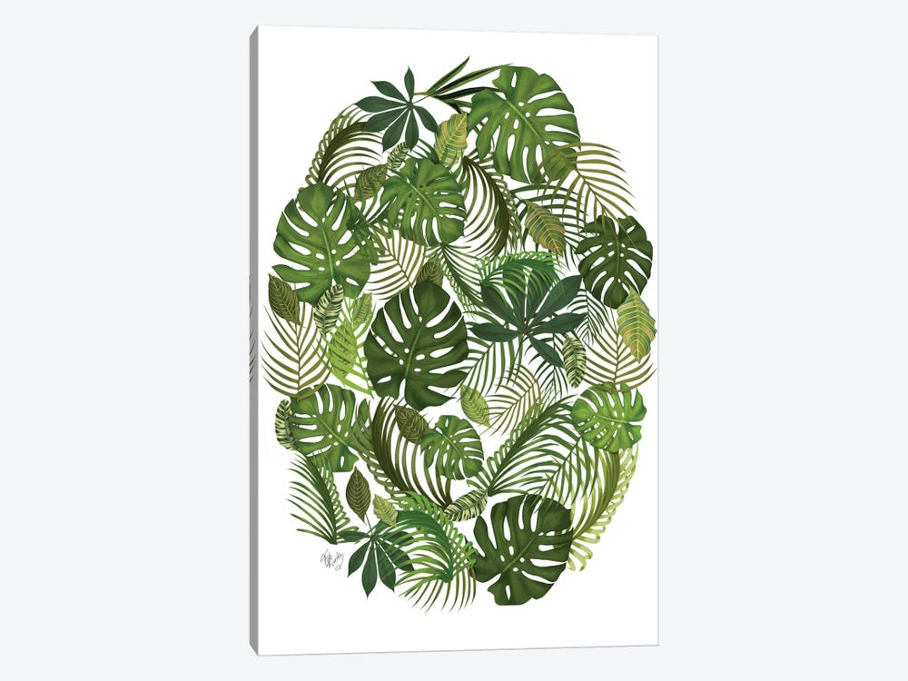 Tropical Oval I by Fab Funky 1-piece Canvas Artwork