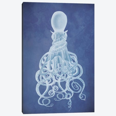 Twisted Octopus I Canvas Print #FNK460} by Fab Funky Canvas Art