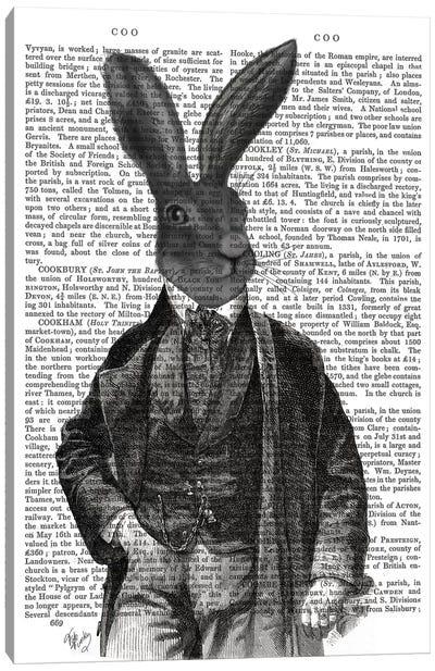 Victorian Rabbit Gent I Canvas Print #FNK465