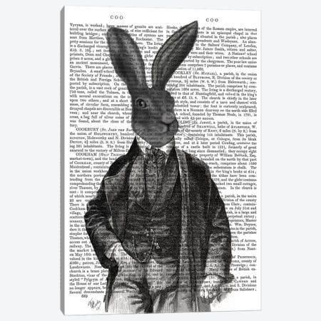 Victorian Rabbit Gent I Canvas Print #FNK465} by Fab Funky Art Print