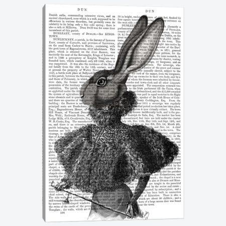 Victorian Rabbit Lady I Canvas Print #FNK466} by Fab Funky Canvas Art Print