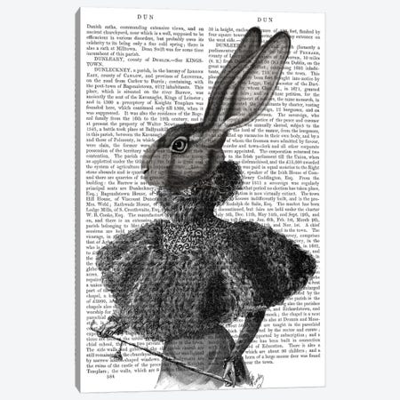 Victorian Rabbit Lady I Canvas Print #FNK466} by Fab Funky Canvas Art Print