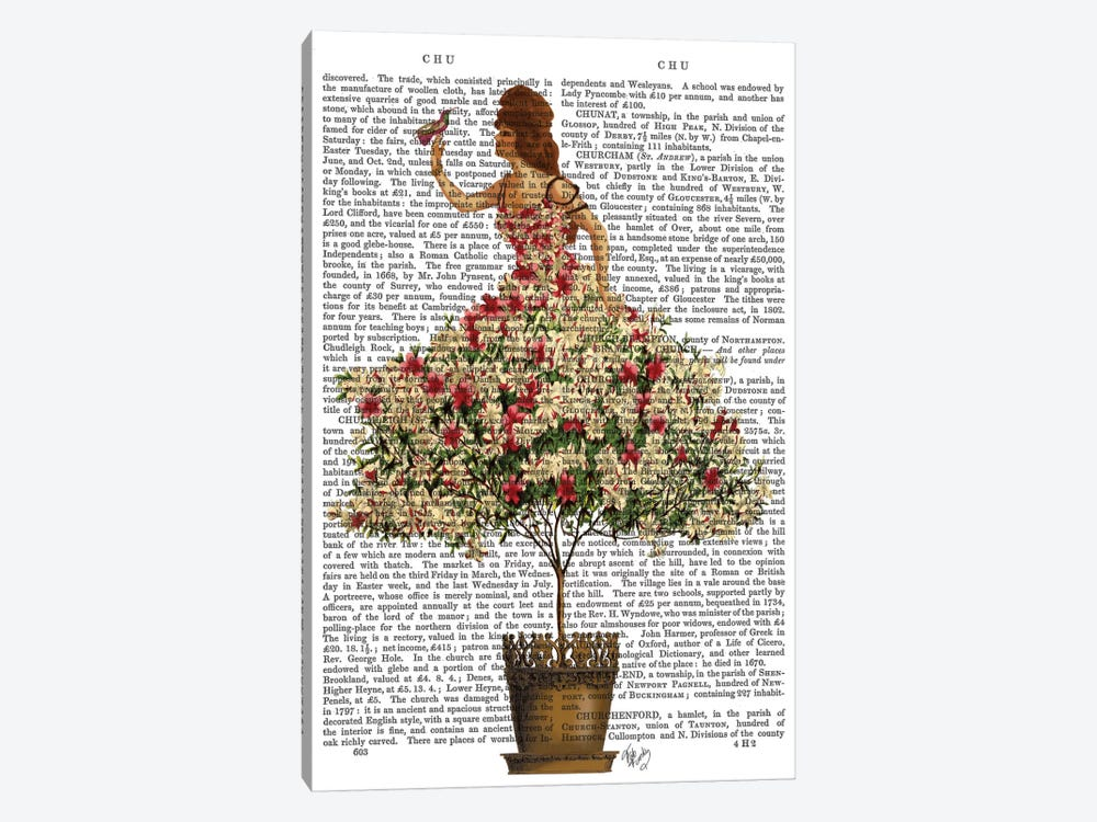 Woman In Floral Dress I by Fab Funky 1-piece Canvas Art Print