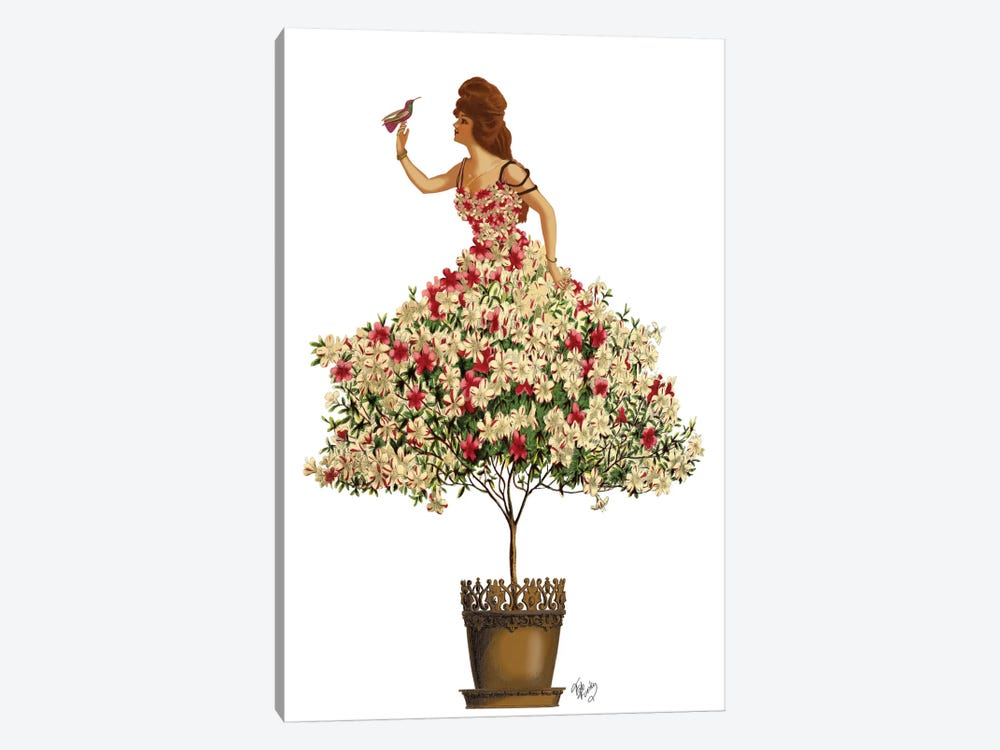 Woman In Floral Dress II by Fab Funky 1-piece Canvas Wall Art