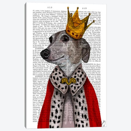 Greyhound Queen Canvas Print #FNK46} by Fab Funky Canvas Artwork