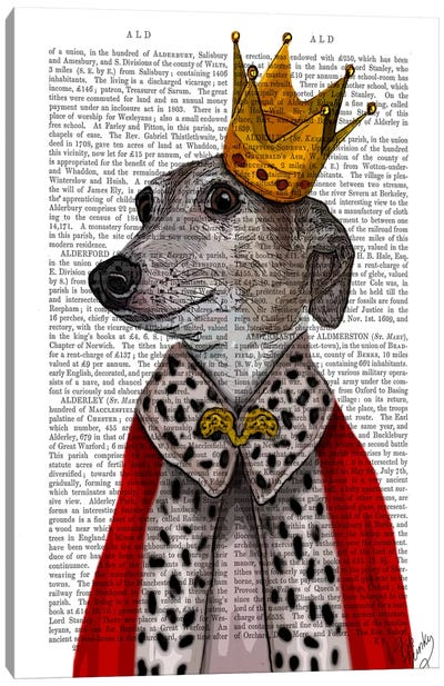 Greyhound Queen Canvas Art Print