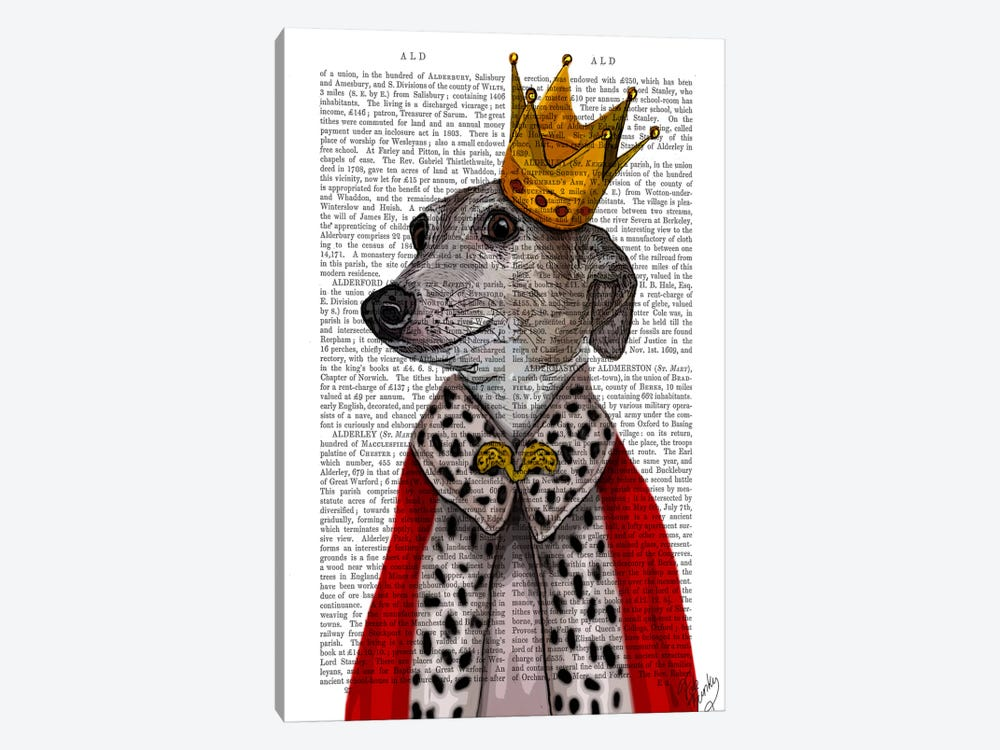 Greyhound Queen by Fab Funky 1-piece Canvas Artwork