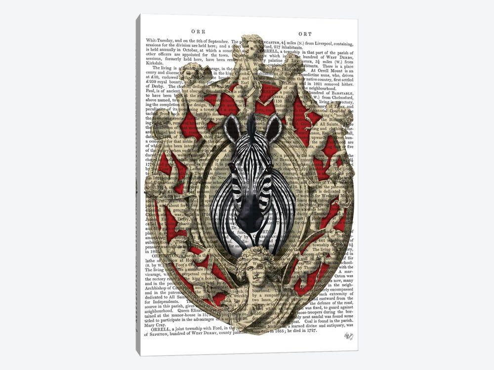 Zebra Head Plaque I by Fab Funky 1-piece Art Print