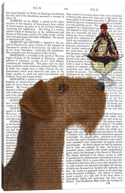 Airedale Ice Cream, Print BG Canvas Art Print