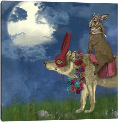Arrival of The Hare King Canvas Art Print