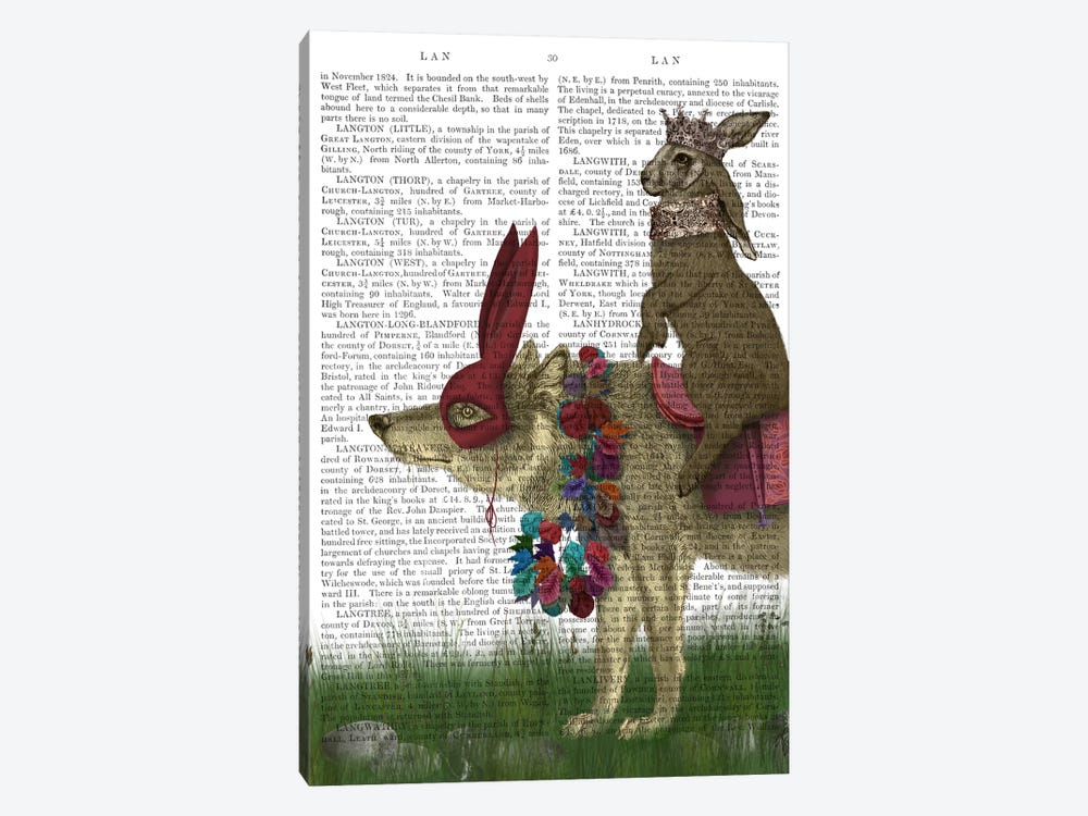 Arrival of The Hare King, Print BG by Fab Funky 1-piece Canvas Print