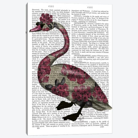Azalea Swan Canvas Print #FNK492} by Fab Funky Canvas Print